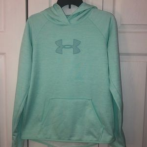 Under Armour Mint Green Fleece Hoodie sz M
